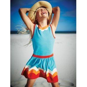 Mini Boden Blue Knit Dress